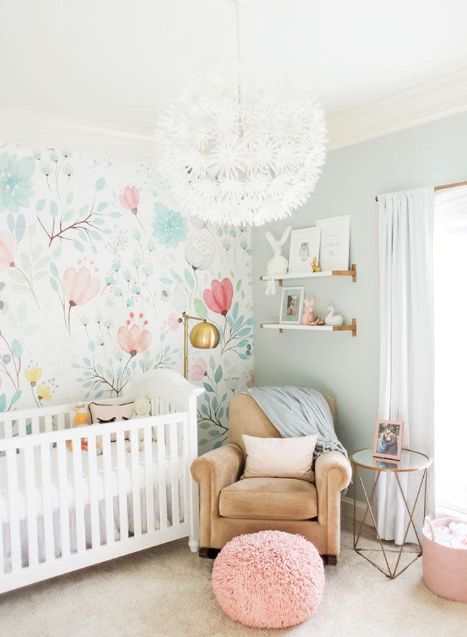 Floral nursery theme