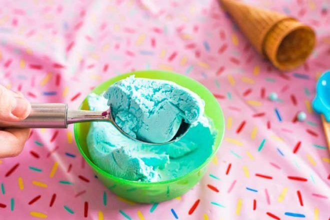 Two ingredient edible ice cream playdough