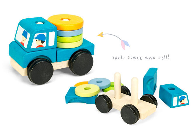 Le Toy Van truck stacker