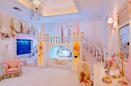 Princess bedroom with castle