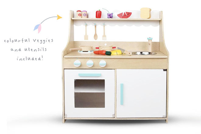 Maddy Wooden Play Kitchen