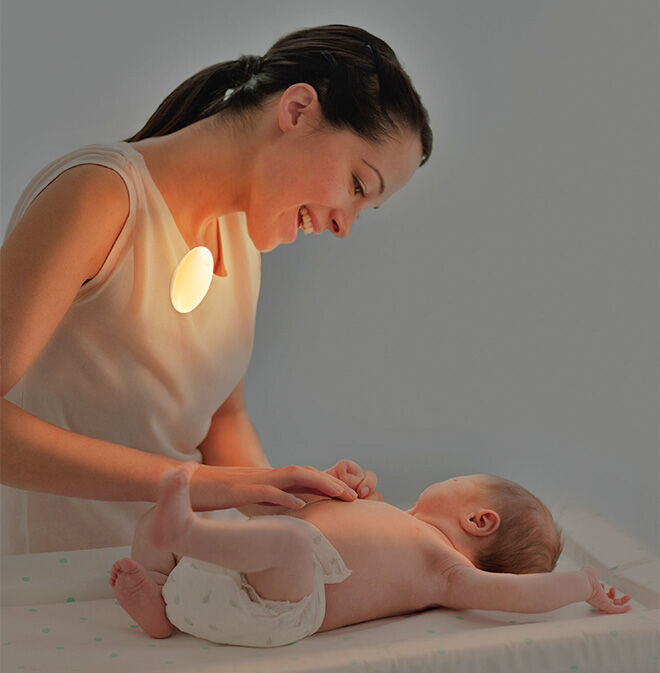 Portable night light for nappy changes