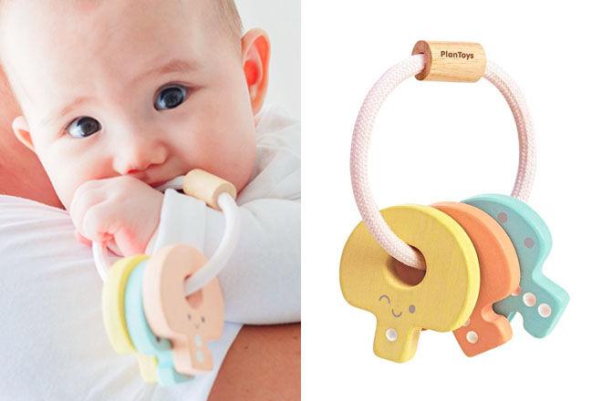 Plan Toys wooden key rattle