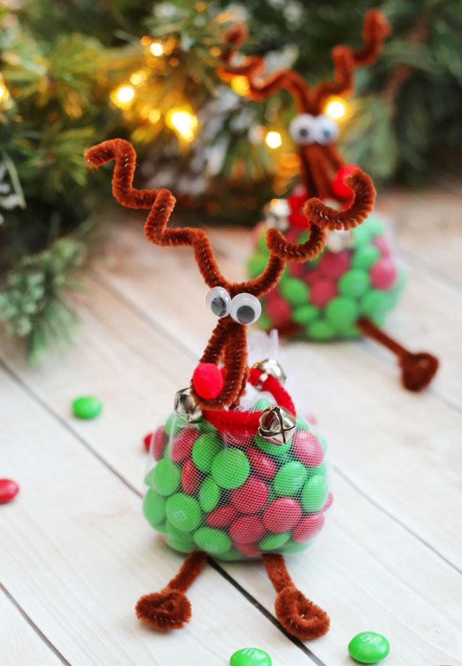 Reindeer Christmas treat bags for kids