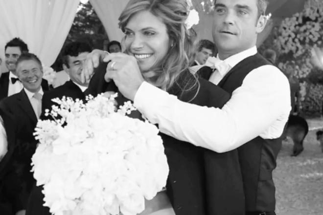 Robbie Williams wedding day