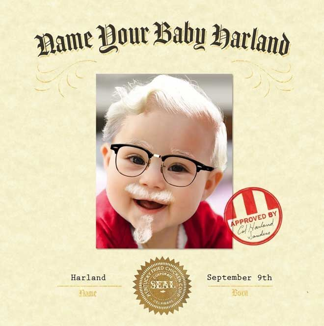 KFC baby name competition