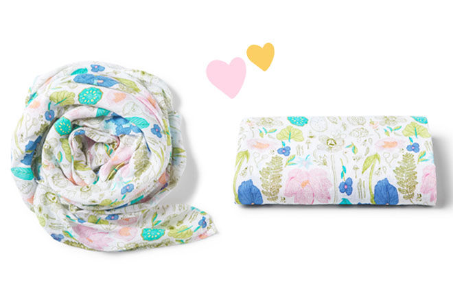 Wilson & Frenchy muslin wraps in flora print