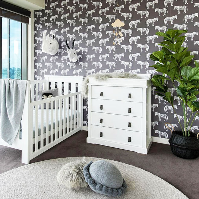 Zebra nursery theme
