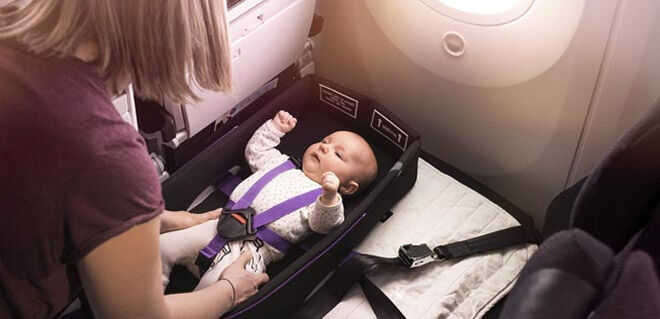 Air New Zealand Infant skycouch belts