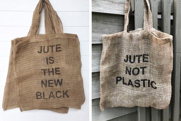 Jute Not Plastic Shopping Bags