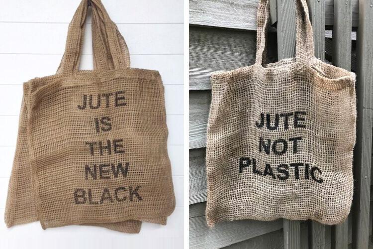 Jute Not Plastic Shopping Bags