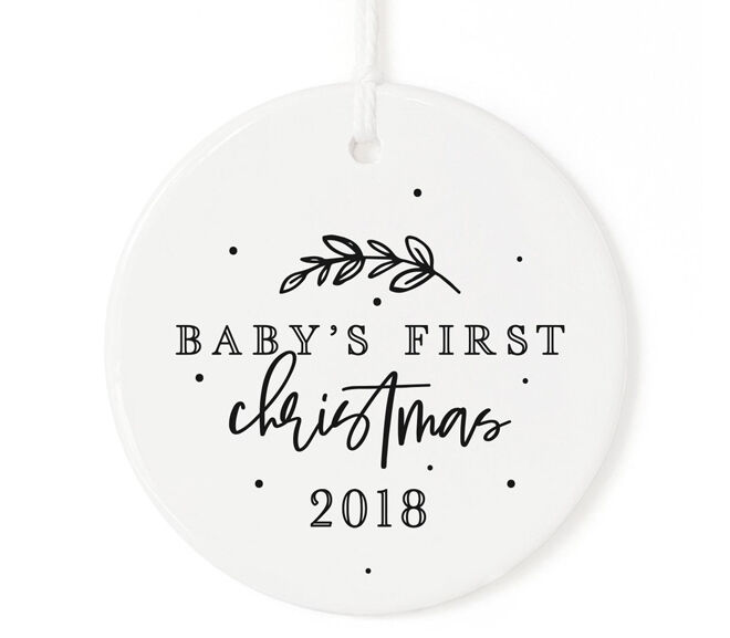 Ceramic baby Christmas ornament