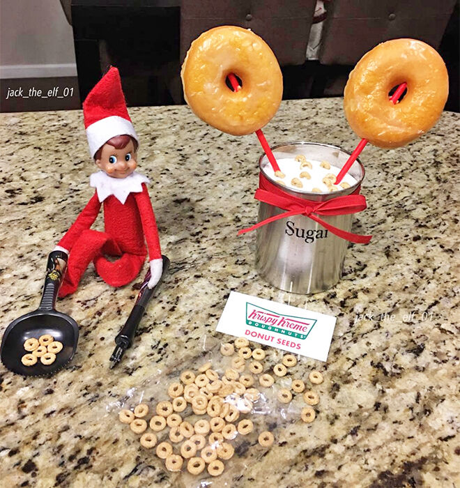 Elf on the Shelf donut seeds