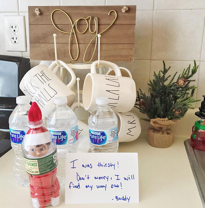 Elf on the Shelf in a bottle