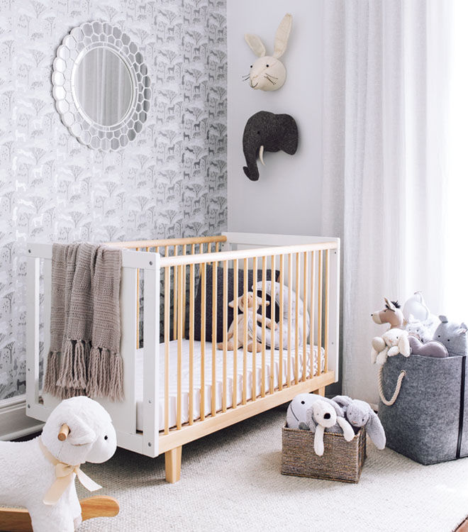 Babies cot is high on the list of what to buy before the third trimester