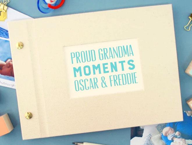 Personalised photo album for grandparents