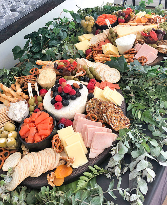 Baby shower grazing platter