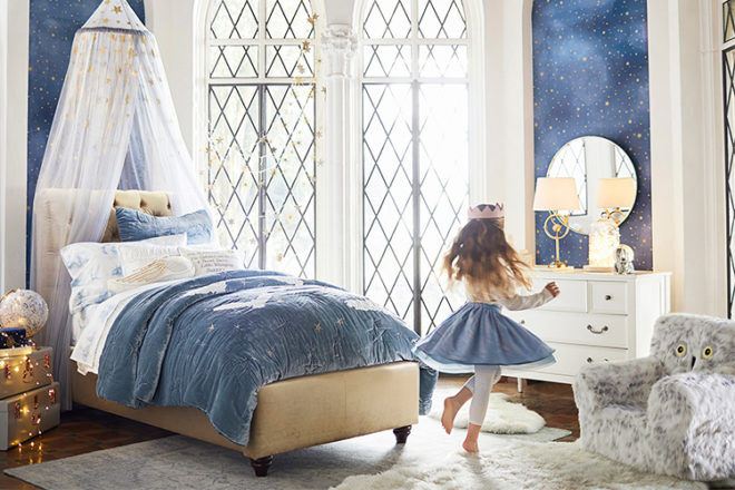 Pottery Barn Kids Harry Potter girl's bedroom