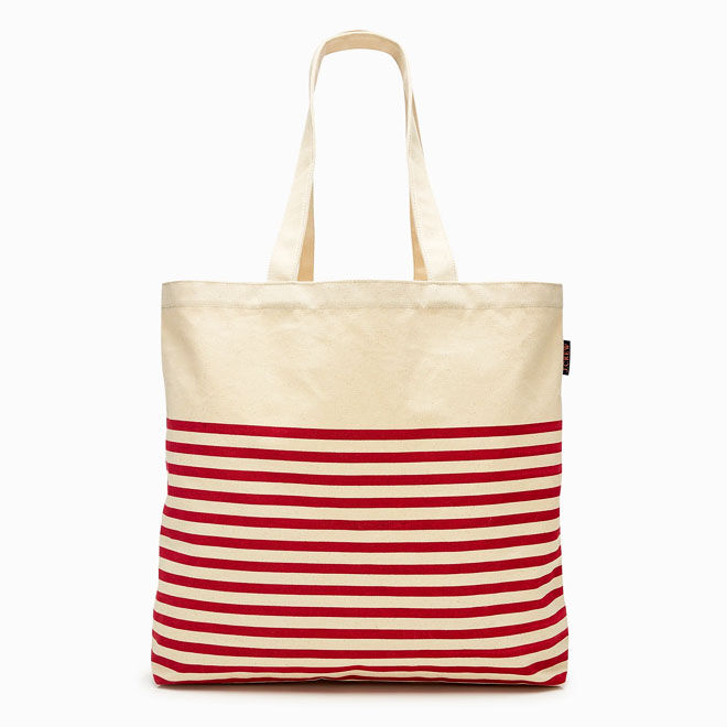 J.Crew Tote red stripe