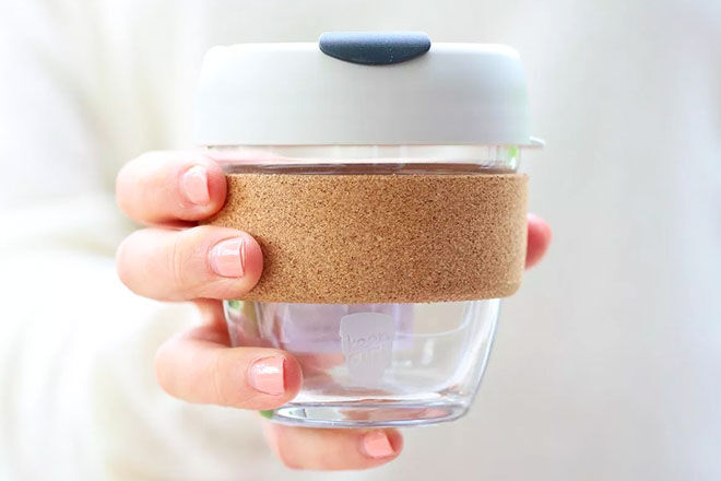 KeepCup Cork Band, reusable coffee cup