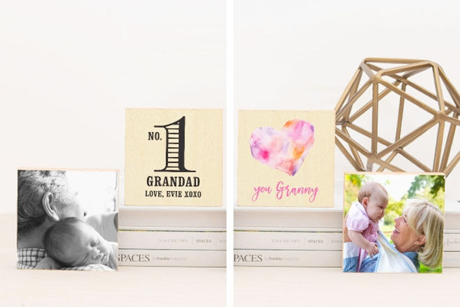 Grandparent photo blocks, Love JK