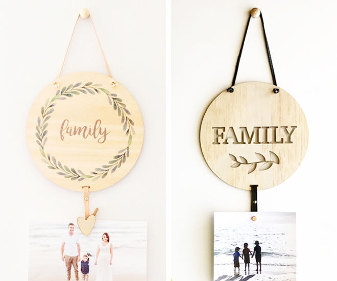 Memory drops, photo wall hangings