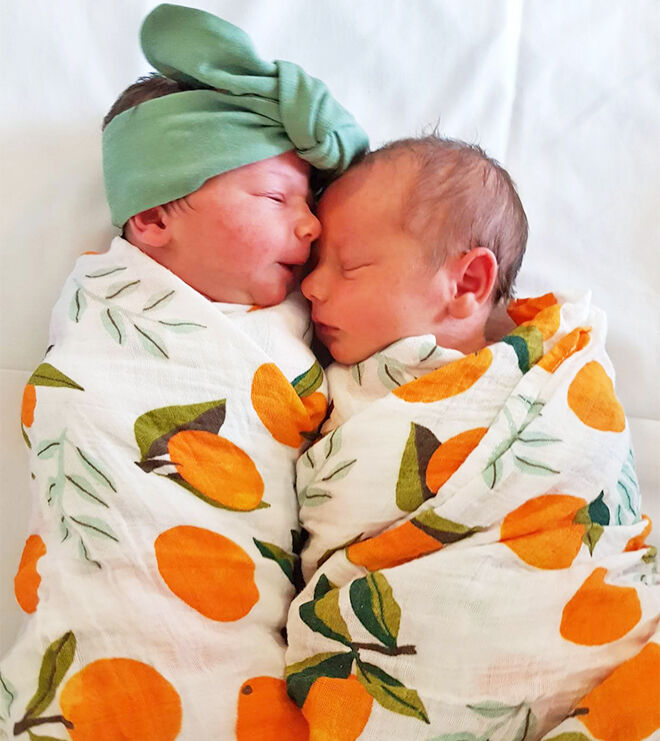 Natural twin birth