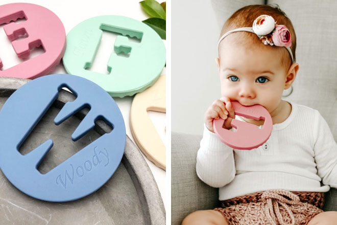 AlphaBET Teething Disc, One Chew Three