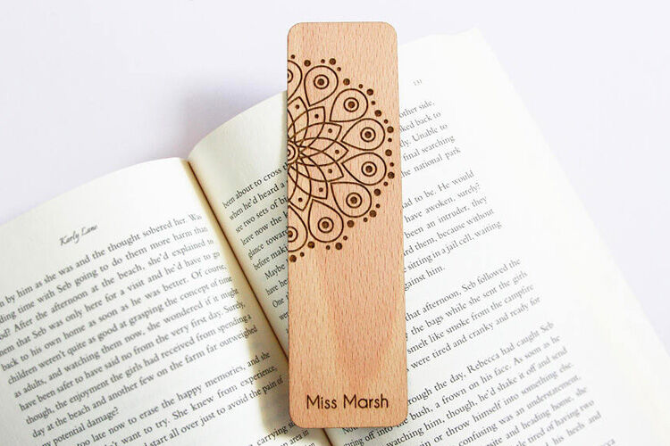 Personalised Mandala Bookmark for teachers