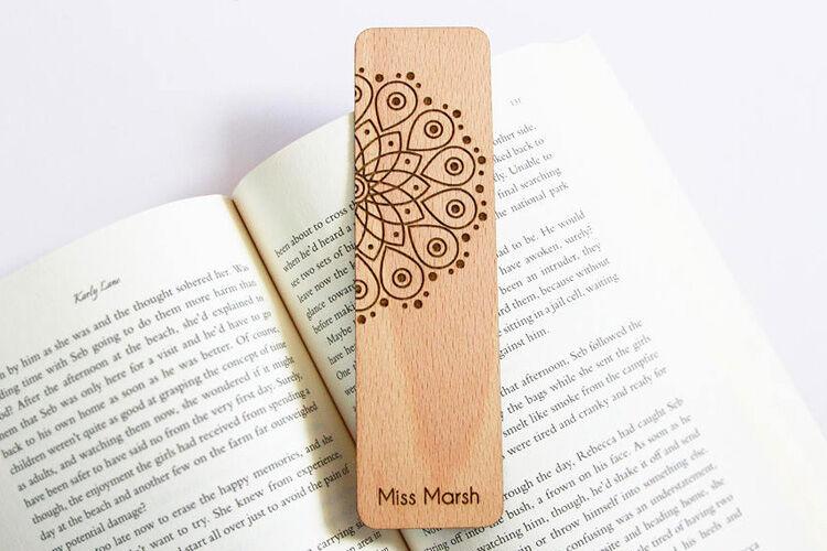 Personalised Mandala Bookmark for teachers