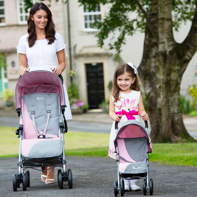 Play Like Mum dolls pushchair vintage pink