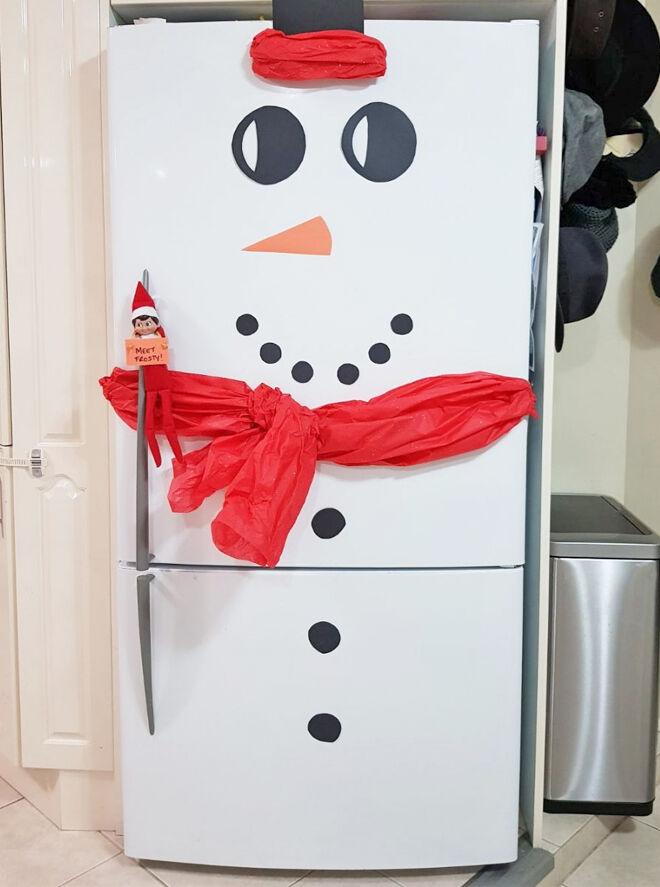 Elf on the Shelf fridge