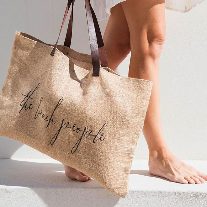 The Beach People original jute tote