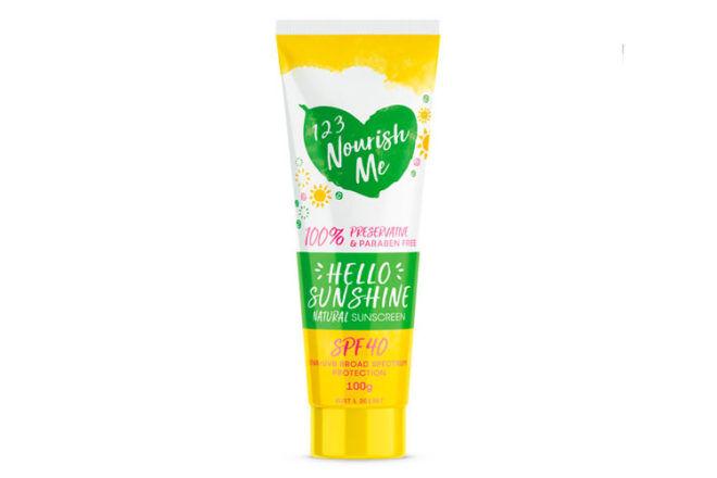 123 Nourish Me Hello Sunshine natural sunscreen