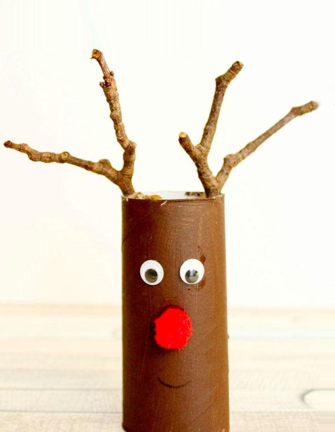 Reindeer toilet roll crafts for kids