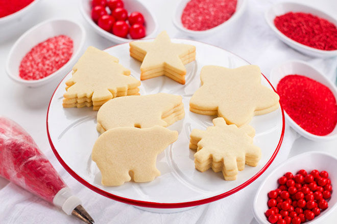 Simple Christmas shortbread