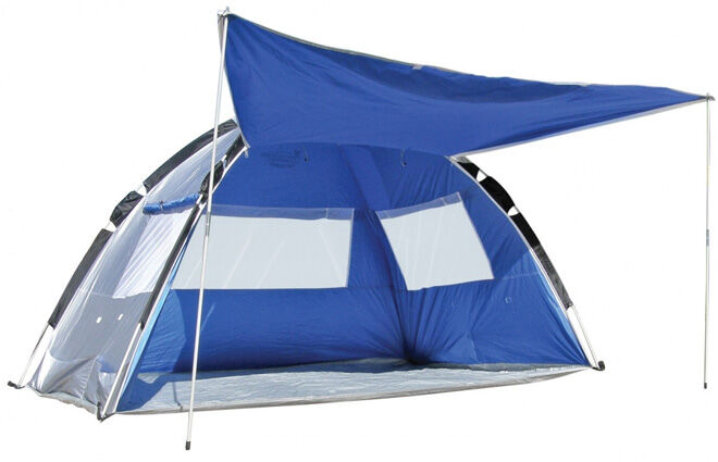 Beach tent with awning