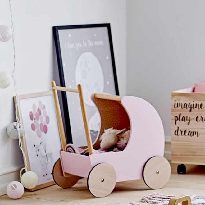 Bloomingville mini toy pram