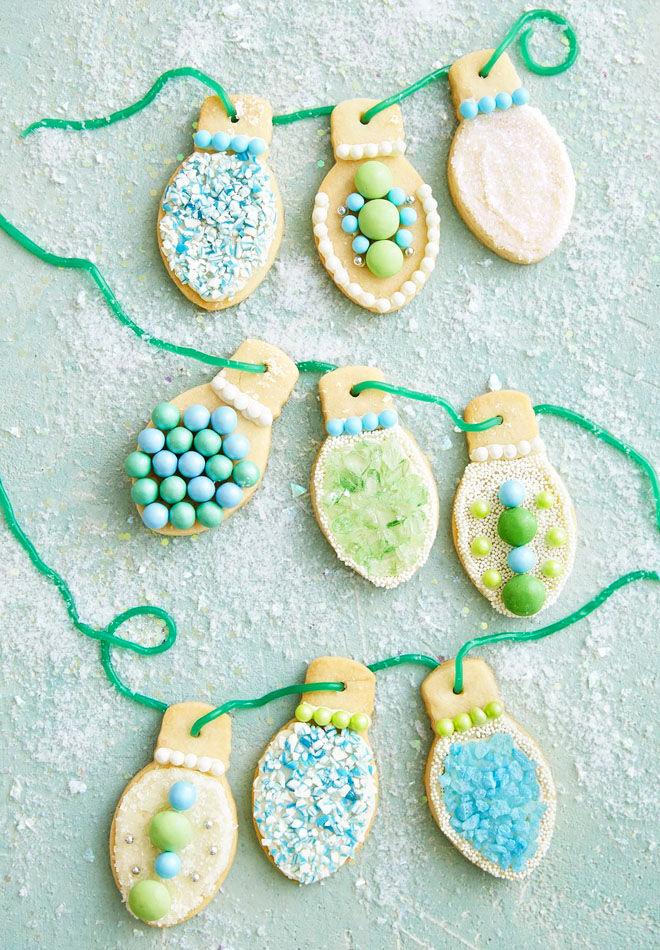Christmas light Christmas cookies