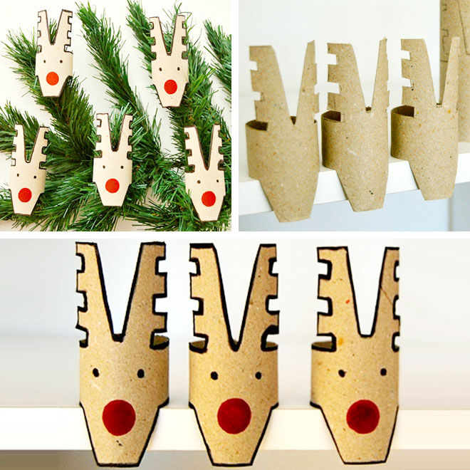 Reindeer toilet roll crafts for Christmas