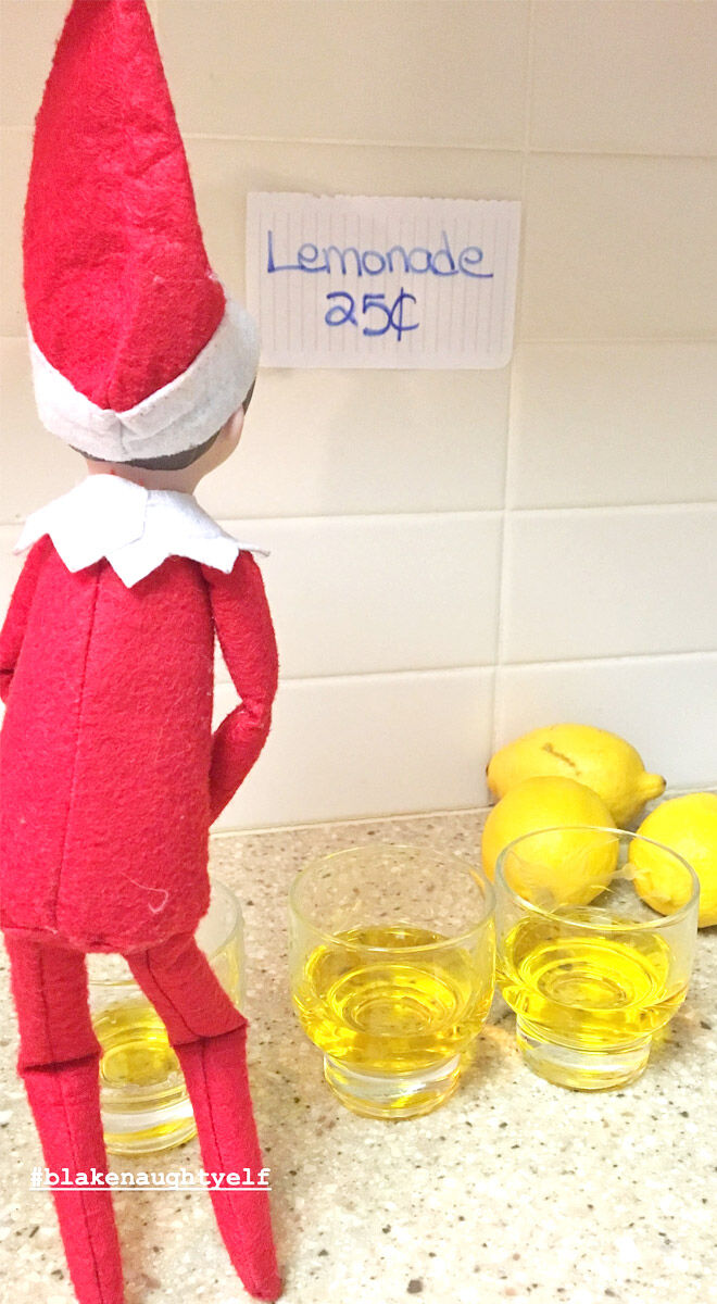 Elf on the shelf lemonade