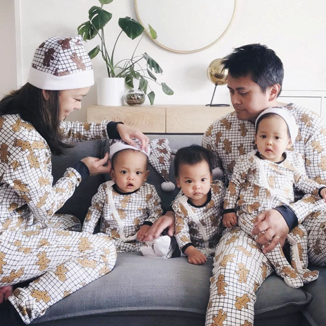 adorable matching Christmas pyjamas for the family from Cotton On Kids