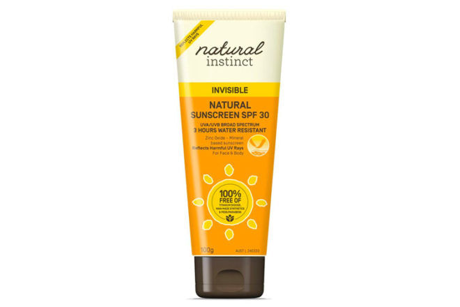 Natural Instinct invisible sunscreen