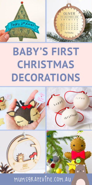 Baby's first Christmas tree decorations | Mum's Grapevine