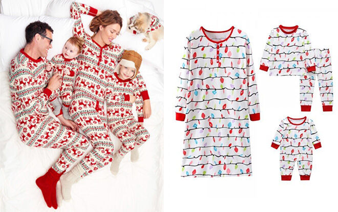 Matching family Christmas pyjamas