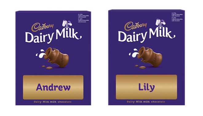 Personalised Cadbury Chocolate Kmart