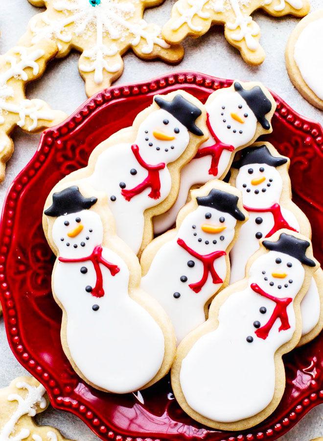 Snowmen Christmas cookies