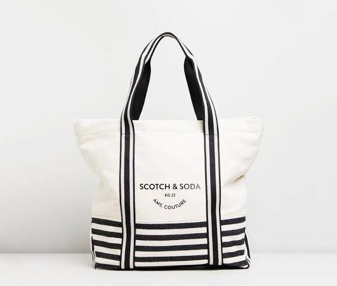 Scotch & Soda Canvas Beach Bag