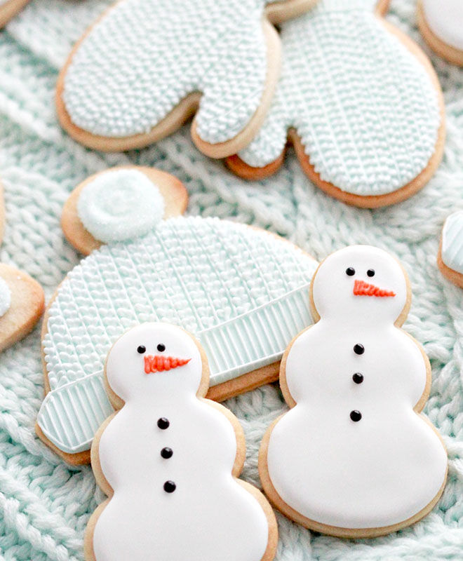 Cut-out Christmas cookies