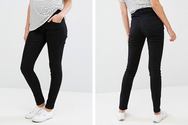 ASOS maternity jean, under the bump fit